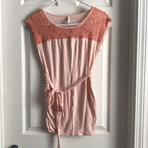 Coral Maternity Blouse